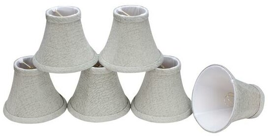 6 Fabric Bell Candelabra Shade (Set of 6) by Aspen Creative Corporation
