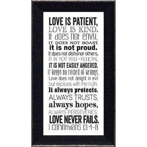 'Corinthians 13' Framed Textual Art by Winston Porter