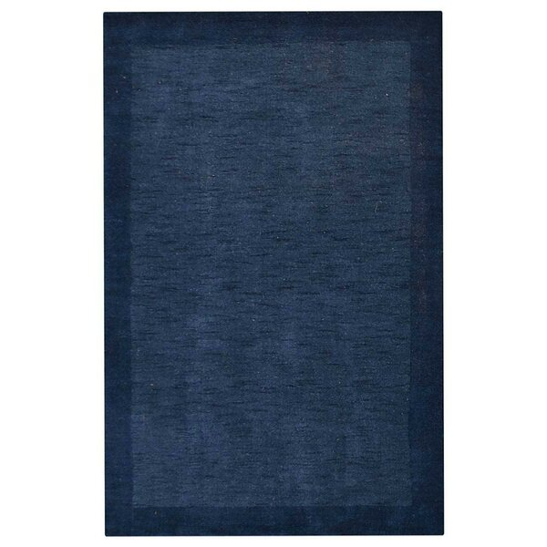 Tasmin Loom Hand-Knotted Wool Blue Area Rug by World Menagerie