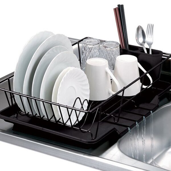 3 Piece Dish Drainer Set By Sweet Home Collection.