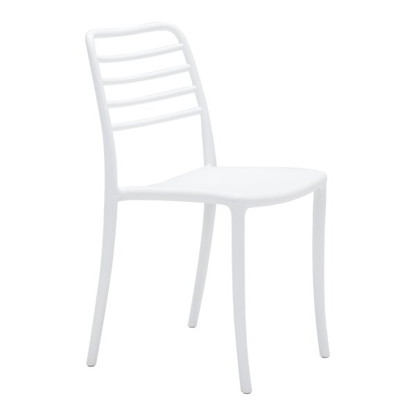 White Dining Chair (Set of 2) (Set of 2) by Highland Dunes