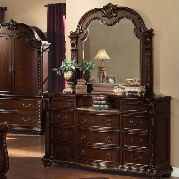 Wentz 9 Drawer Dresser with Mirror by Astoria Grand