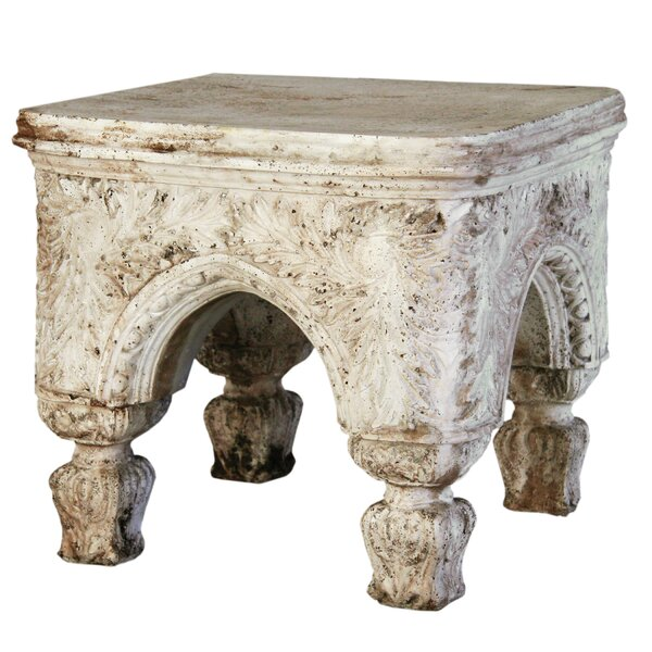 Furniture Bedford Outdoor Stool Pedestal by OrlandiStatuary