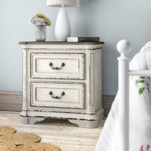 Treport 2 Drawer Nightstand By One Allium Way by One Allium Way Top Reviews