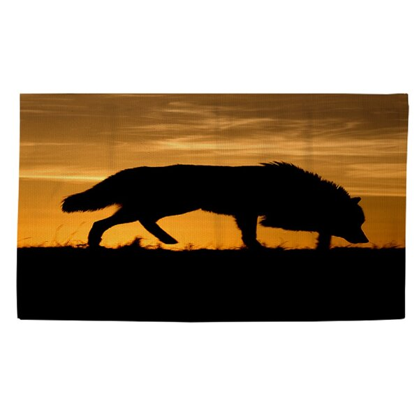 Wolf Silhouette Area Rug by Manual Woodworkers & Weavers