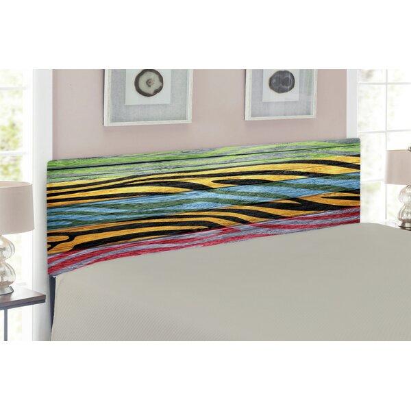Zebra Print Upholstered Panel Headboard by East Urban Home
