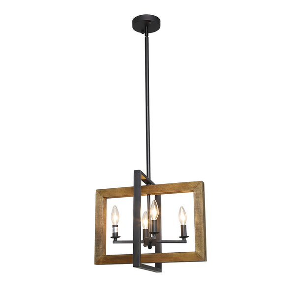 Correa 4-Light Candle Style Rectangle / Square Chandelier By Williston Forge