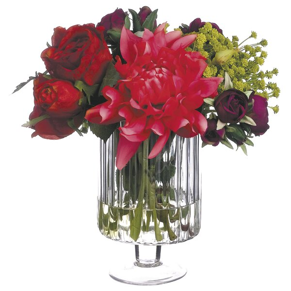 Mixed Centerpiece in Decorative Vase by Everly Quinn