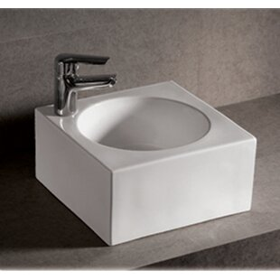 Best Choices Isabella Ceramic Square Vessel Bathroom Sink By Whitehaus Collection