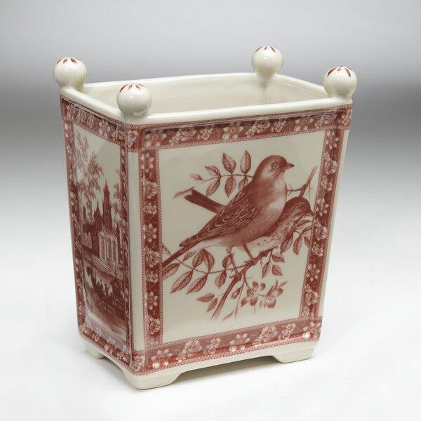 Forest Park Bird Porcelain Pot Planter by Charlton Home