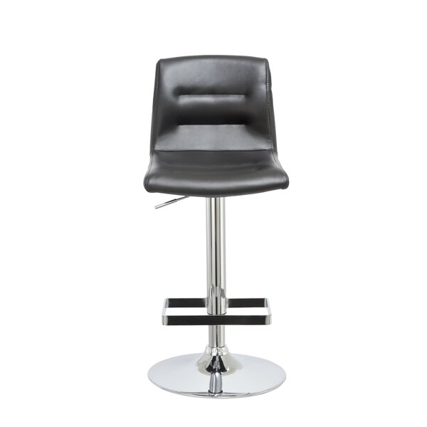 Knighten Adjustable Height Swivel Bar Stool by Orren Ellis