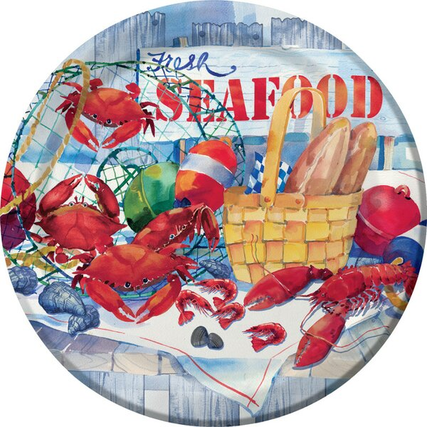 Seafood Celebration Dinner Plates (Set of 8) by Creative Converting