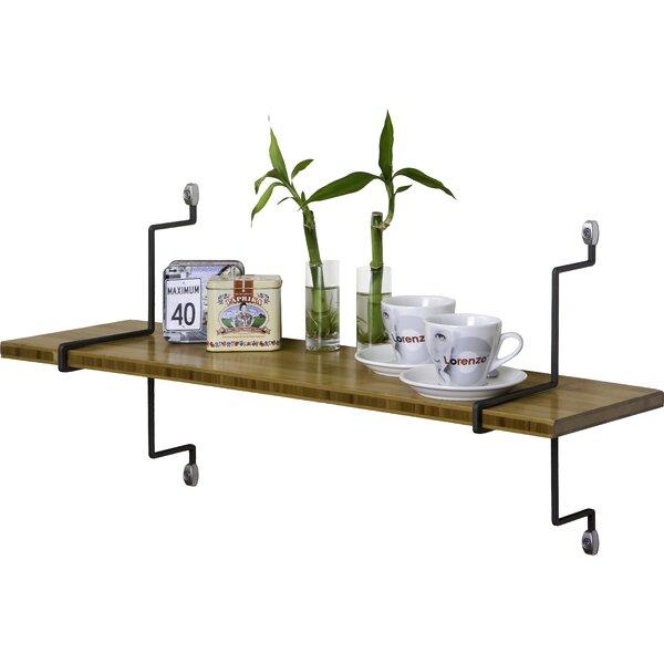 Single Bamboo Shelf with Straight Brackets by Assa Design