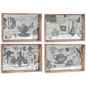 4 Piece Serving Tray Set (Set of 4)