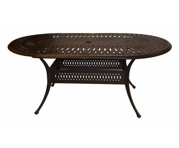 Marlie Aluminum Dining Table by Darby Home Co