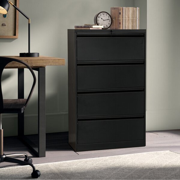 Anti-Tilt 4 Drawer Lateral Filing Cabinet