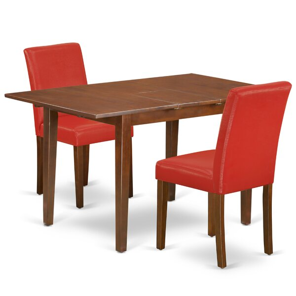 Otisfield 3 Piece Extendable Solid Wood Dining Set By Winston Porter