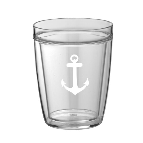 Fidel Anchor 14 oz. Plastic Every Day Glass (Set of 4) by Breakwater Bay