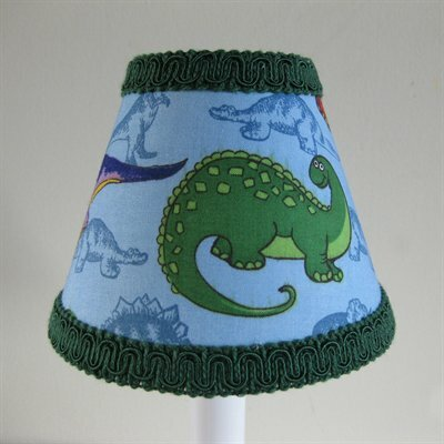 Prehistoric 11 Fabric Empire Lamp Shade by Silly Bear Lighting