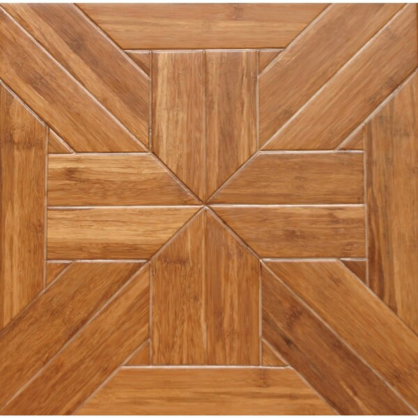 Tuscan Parquet Engineered 15.75 x 15.75 Bamboo Wood Tile by Islander Flooring