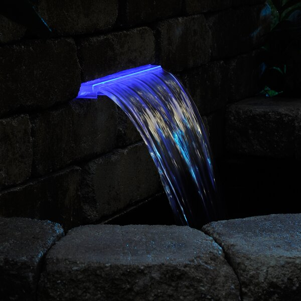 Lighted Waterfall LED Spillway by Pond Boss
