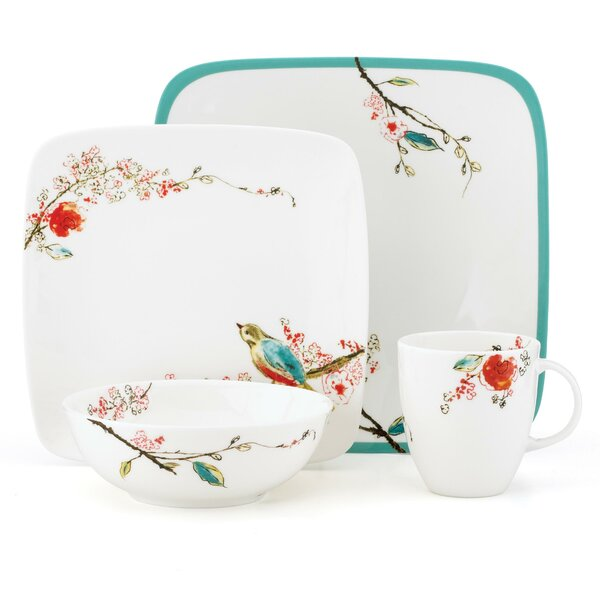Chirp Square 4 Piece Place Setting, Service for 1 by Lenox