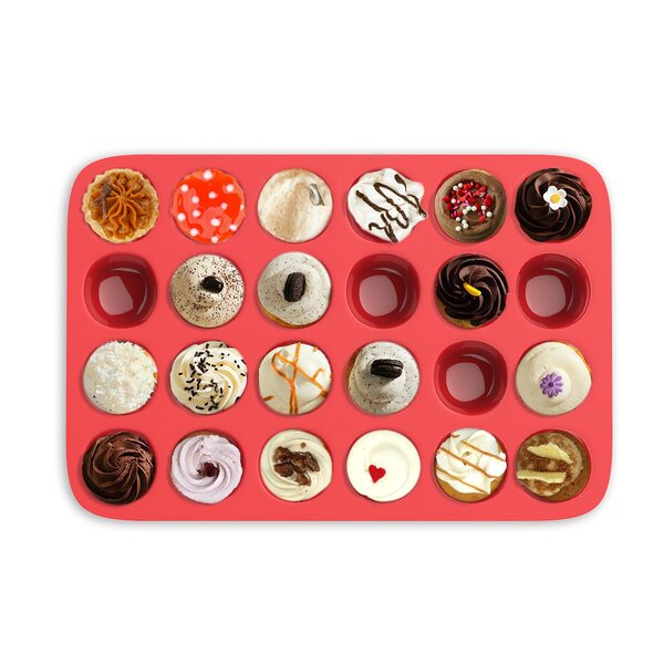 24 Cup Non-Stick Mini Muffin Pan by Chef Buddy