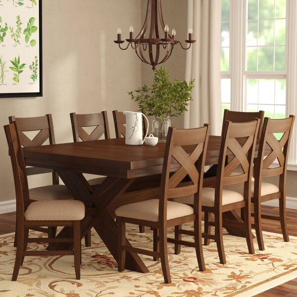 Isabell 9 Piece Solid Wood Dining Set by Laurel Foundry Modern Farmhouse Laurel Foundry Modern Farmhouse