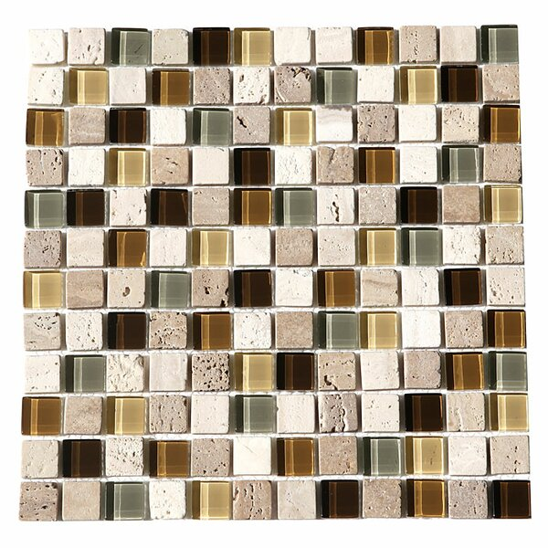 Paragon 12 x 12 Glass Mosaic Tile in Fawn by Kellani