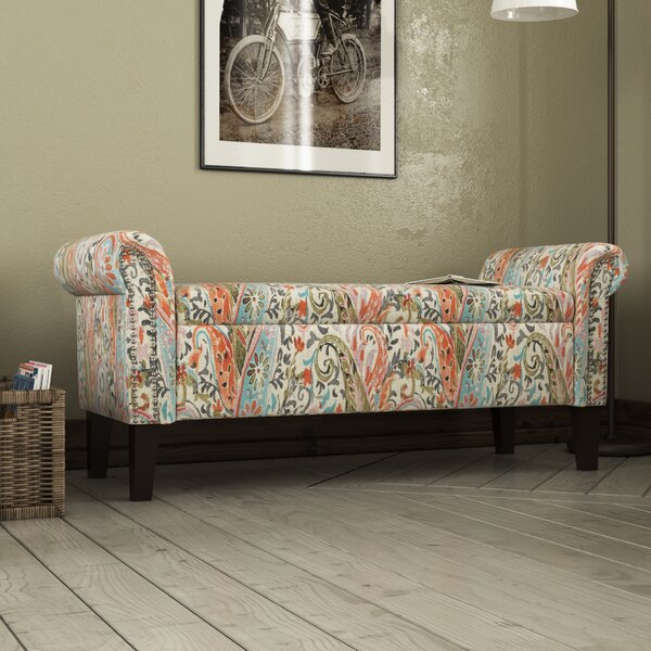 Huldah Rolled Arm Upholstered Storage Bench by Darby Home Co
