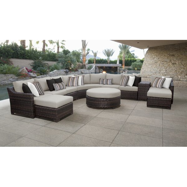 kathy ireland Homes & Gardens River Brook 11 Piece Sectional Seating Group by TK Classics