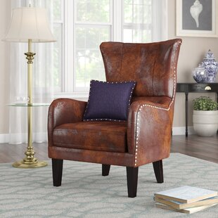 Gordon High Back Wingback Chair by Alcott Hill