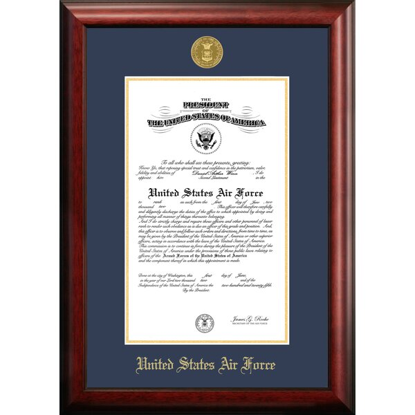 Air Force Certificate Picture Frame by Patriot Fra