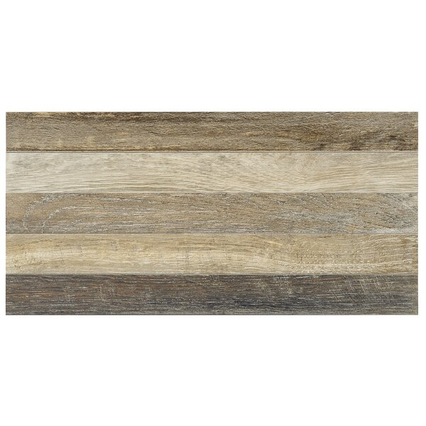Parq 3.5 x 36 Porcelain Wood Look/Field Tile in Brown by Madrid Ceramics