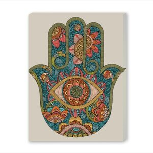 Hamsa by Valentina Ramos Graphic Art on Gallery Wrapped Canvas by Americanflat