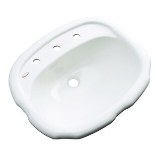 Compare & Buy Martinique Specialty Drop-In Bathroom Sink with Overflow By Solidcast
