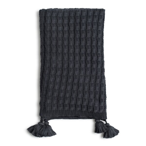 Yandel Organic Cotton Knit Throw by Gracie Oaks
