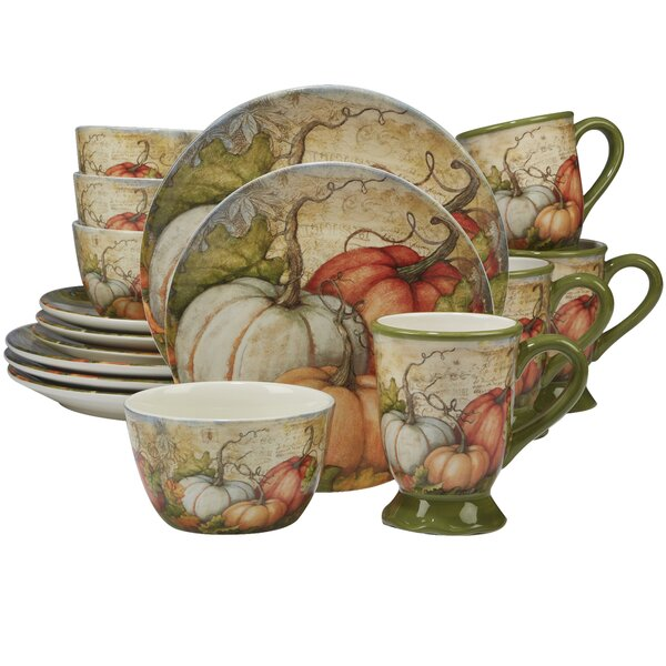 Layla 16 Piece Dinnerware Set, Service for 4 by The Holiday Aisle