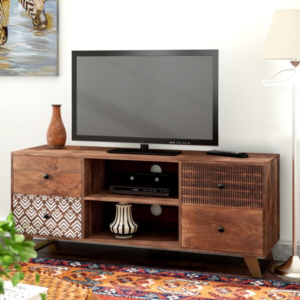 Carli Solid Wood TV Stand For TVs Up To 78
