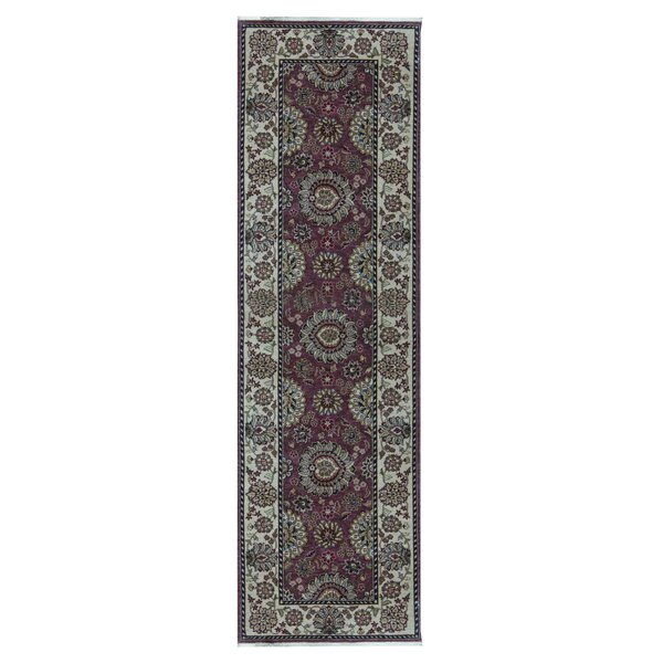 Hand Knotted Wool Rose Rug