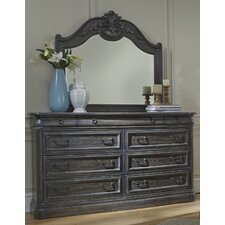 Danberry Marble 9 Drawer Dresser with Mirror by Astoria Grand