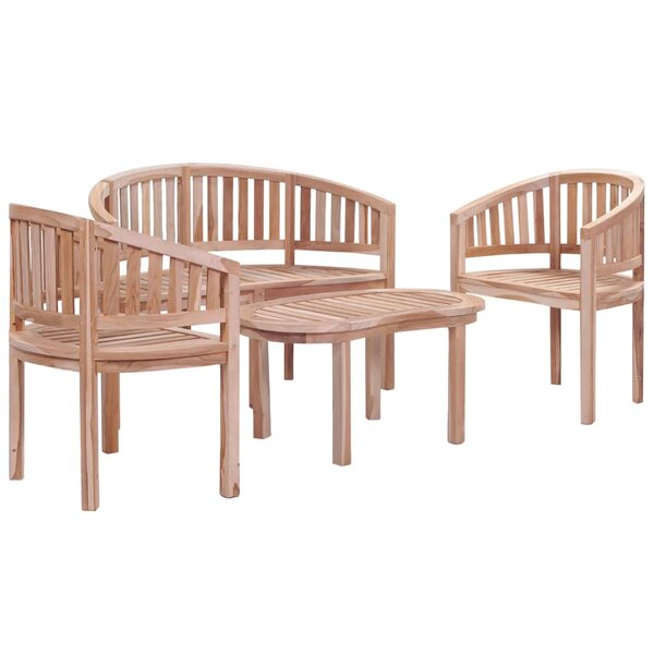 Hideaway 4 Piece Teak Dining Set by Foundry Select