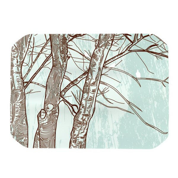 Winter Trees Placemat by KESS InHouse