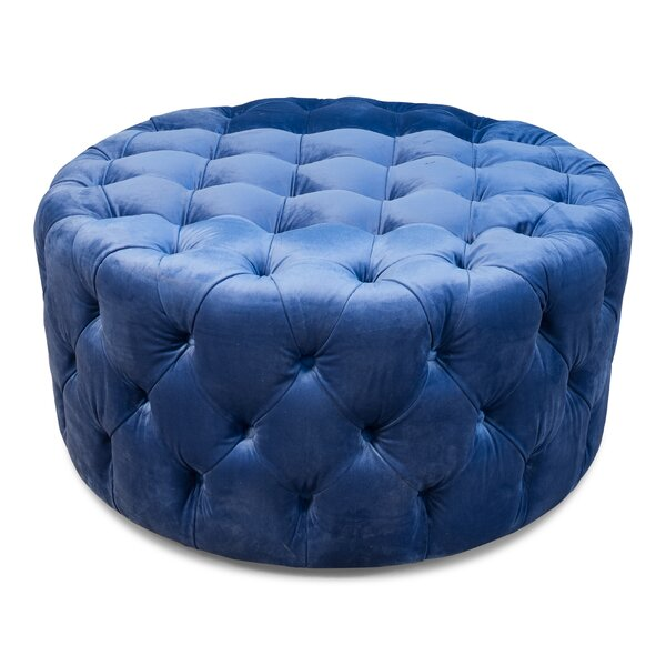 Lynne Round Tufted Ottoman by Everly Quinn