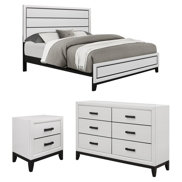 Best #1 Jerold Standard Configurable Bedroom Set (Set Of 3) By Williston Forge 2019 Sale