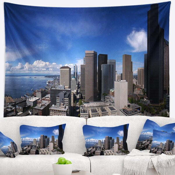 Seattle Downtown from Smith Tower Tapestry and Wall Hanging by East Urban Home