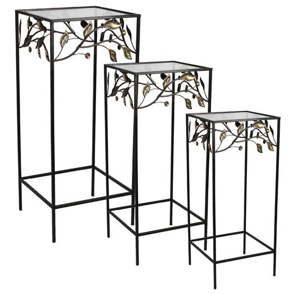 Coombs 3 Piece Metal Nesting Table Set by Fleur De Lis Living