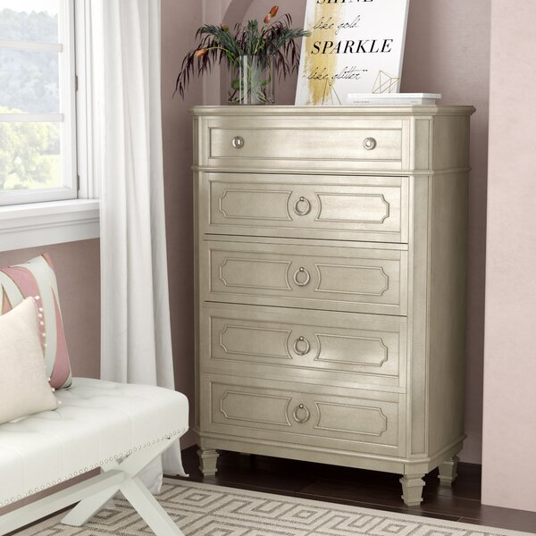 Haneul 5 Drawer Standard Dresser by Willa Arlo Interiors