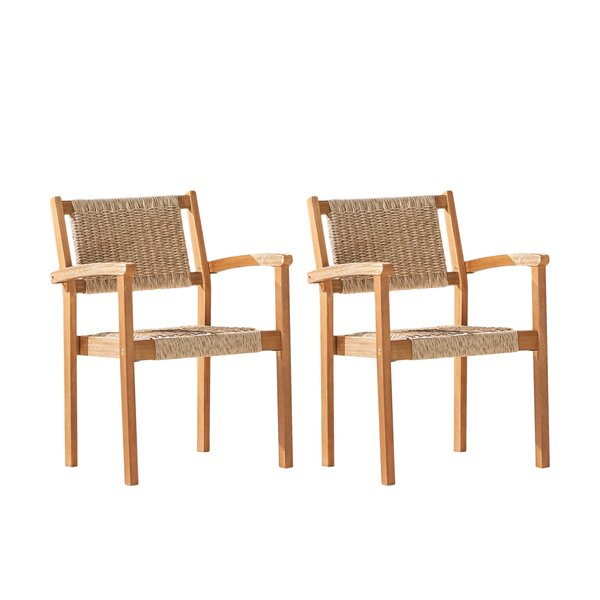 Baylis Stacking Patio Dining Chair (Set of 2) by Rosecliff Heights