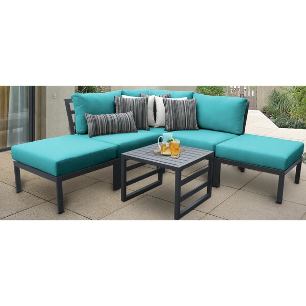 Benner Outdoor Aluminum 6 Piece Sectional Seating Group with Cushion by Ivy Bronx
